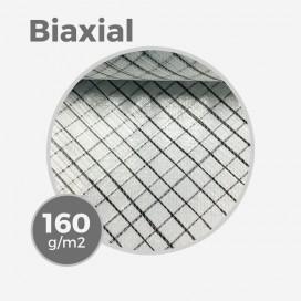 Tissu de fibre de verre e-glass & carbon insert biaxial +45/-45 - 160gr/m - 4,7oz - largeur 63,5cm