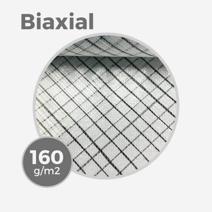 Biaxial +45/-45 E-glass & carbon insert -  160gr/m - 4,7oz - 63,5cm width