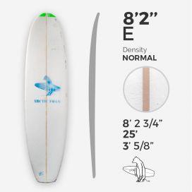 8'2'' E Malibu, ARCTIC FOAM