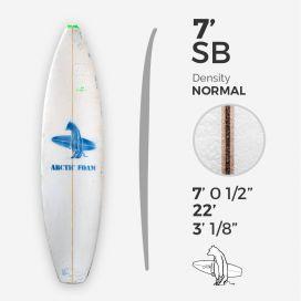 7'0'' SB Shortboard - Green density - latte 3/16'' Basswood, ARCTIC FOAM