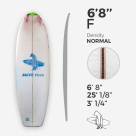 6'8'' F Fish, ARCTIC FOAM