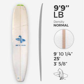 9'9'' L Longboard, Green density - latte 5/16'' Basswood, ARCTIC FOAM