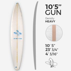 ARCTIC Foam 10'5'' Gun - Blue density - 1/2'' Bass