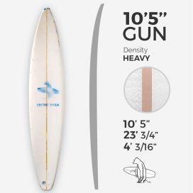 ARCTIC Foam 10'5'' Gun - Blue density - 1/2'' Bass