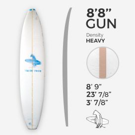 ARCTIC Foam 8'8'' GUN - Blue Density
