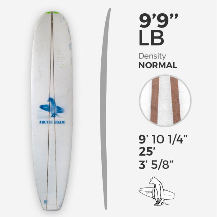 9'9'' longboard - 2 x cedar stringer wedge, ARCTIC FOAM