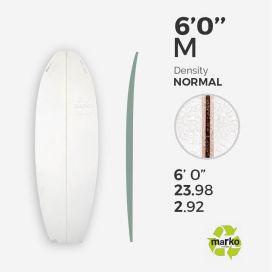 6'0'' M EPS - 6'0'' x 24'' x 2,92'' - latte 1/8'' Ply, MARKO FOAM