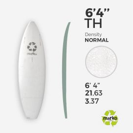 6'4'' Thick EPS - 6'4'' x 21,63'' x 3,37'', No Stringer, MARKO FOAM