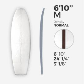 6'10'' M Fish - latte 5/32'' Dark Wood, MILLENNIUM FOAM