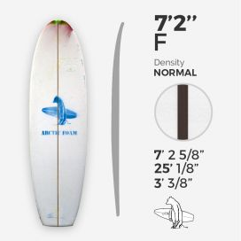 7'2'' F Fish - Green density - costilla de 3/16'' Dyed Basswood Brown, ARCTIC FOAM