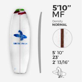 """5'10'' F Fish - Green Density - 1/8"""" Red Cedar stringer, ARCTIC FOAM"""
