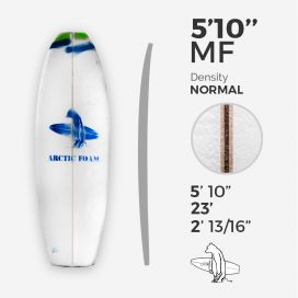 5'10'' F Fish, ARCTIC FOAM