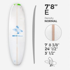 7'8'' E Egg - Green density - latte 5/16'' Basswood, ARCTIC FOAM
