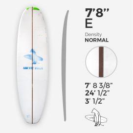 7'8'' E Egg - Green density - 1/4'' red Cedar stringer, ARCTIC FOAM
