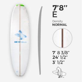 7'8'' E Egg - Green density - 1/8'' red Cedar stringer, ARCTIC FOAM