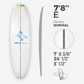 7'8'' E Egg - Green density - costilla de 1/8'' red Cedar, ARCTIC FOAM