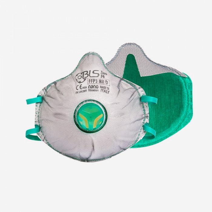 Masque de protection poussières FFP3 jetable avec soupape, BLS