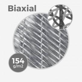 Tissu de fibre de verre e-glass biaxial +45/-45 - 154gr/m - 4,5oz - largeur 63,5cm