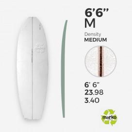 EPS 6'6'' M - Marko Foam surfboard blank - 6'7'' x 23,98'' x 3,4' Ply'
