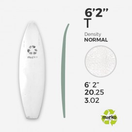 6'2'' Thick EPS - 6'2,75'' x 20,25'' x 2,8'' - No Stringer, MARKO FOAM