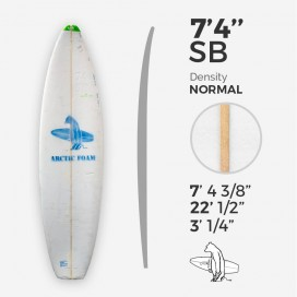7'4'' SB Shortboard ARCTIC Foam - SINGLE FIN - Foam para el shape de una tabla de surf - VIRAL Surf for shapers