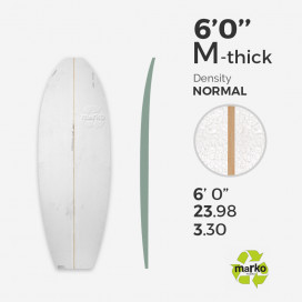 EPS 6'0'' M TH - Marko Foam surfboard blank - 4mm Ply - Enviro Foam 2.0