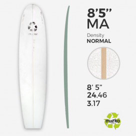 "8'5'' Thick EPS - 8'6.65"" x 24.46"" x 3.8"", 1/8'' Ply stringer, MARKO FOAM"
