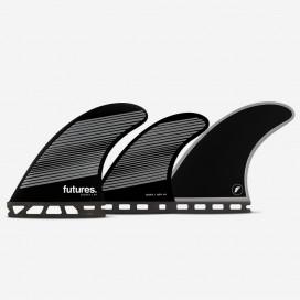 Dérives 5-fins - F6 RTM Hex gray / black Legacy series, FUTURES.