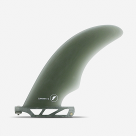"Aleta de longboard - Cutaway Fiberglass Smoke 7"", FUTURES."