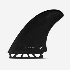 Quillas Twin fins - Son of Cobra Twin fin - Fiberglass Black, FUTURES.