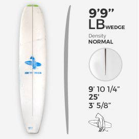 9'9'' L Longboard, Green density - latte 5/16'' Basswood, ARCTIC FOAM