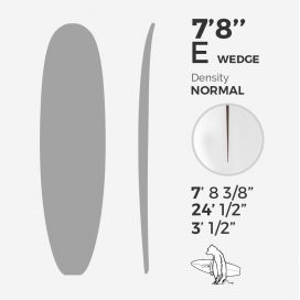 7'8'' E Egg Wedge stringerless, ARCTIC FOAM