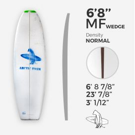 6'8'' MF Fish - Green density- 3/8'' red cedar wedge 3/8'' nose to 1/16'' tail stringer, ARCTIC FOAM