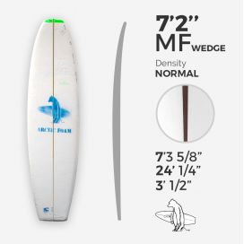 7'2'' MF Fish - Green density - costilla 3/8'' red cedar wedge 3/8'' nose to 1/16'' tail, ARCTIC FOAM