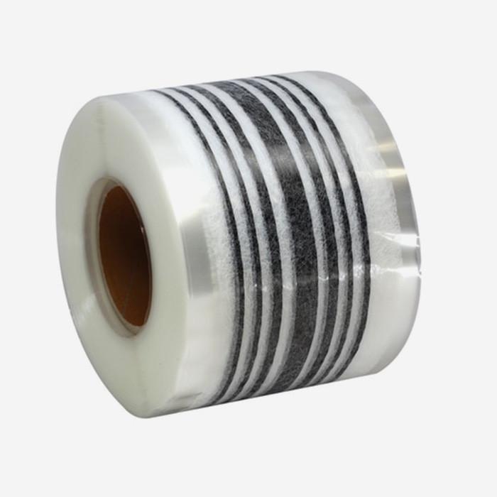 Web fused 7 strands 3K carbon (larger center one), 63mm reinforcement tape