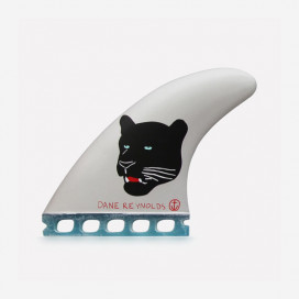 "Captain Fin co. single tab thruster fins Dane Reynolds ""Back Panther"" - size L"